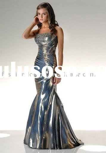 RP035 Strapless shiny fabric evening gowns Party dress Bridesmaid dress Prom dresses