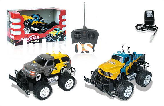 Radio Remote Control Pick-up Monster Truck vehicle with glowing wheels and variety of body styles 15