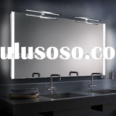 Rectangle bathroom mirrors with bracket led lights
