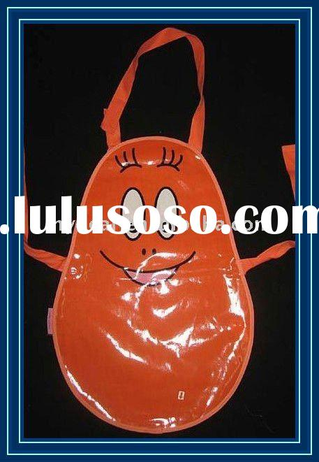 Red Cute Kids Waterproof Aprons with PVC Coated