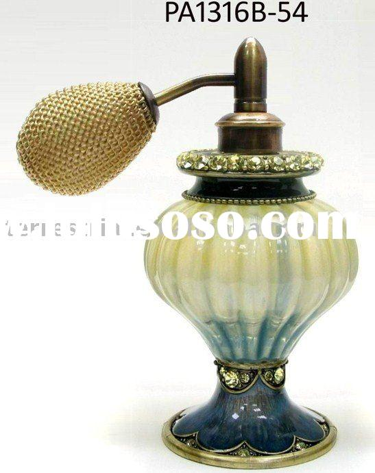Rhinestone decorated glass perfume bottles atomizer