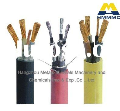 Rubber jacketed copper cable scrap