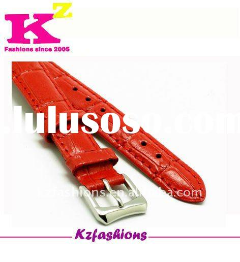 Rubber,pu and genuine leather watch strap kz0314