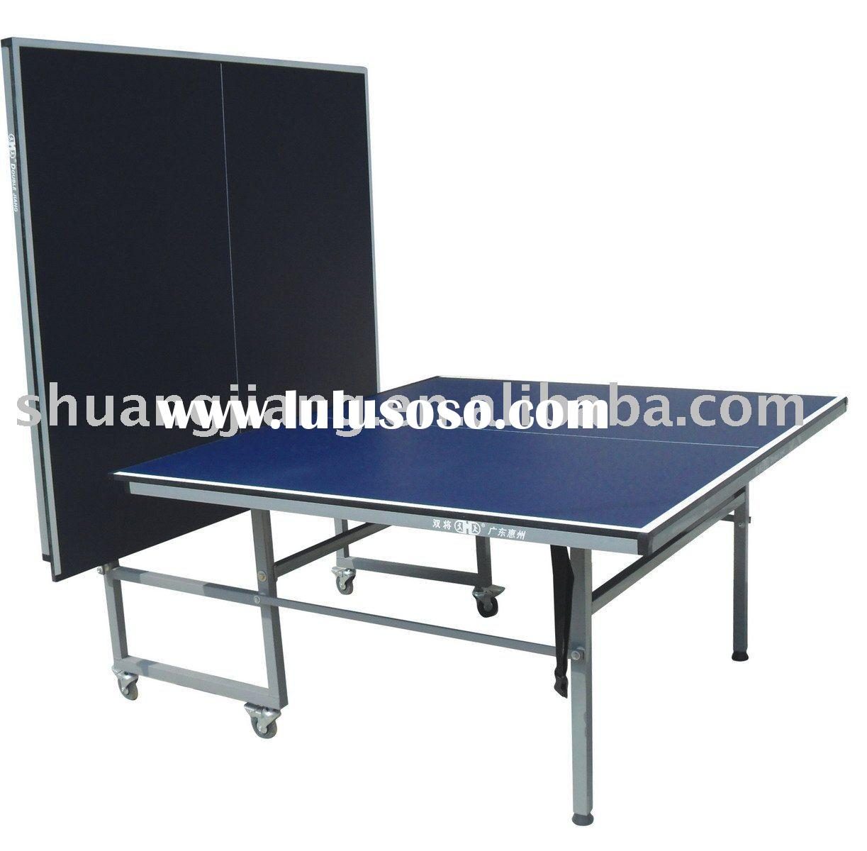 SJ-319 Portable Indoor Tennis Table,Double Folding Ping-pong Ball Table,Removable Tennis Table