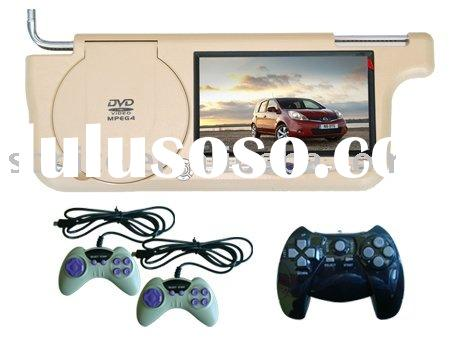 SJ-778SD:Sunvisor Car DVD player with USB/Game /IR/speaker