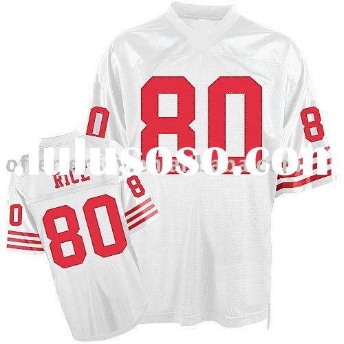 San Francisco 49ers Jerseys #80 Jerry Rice Throwback Authentic White Jersey Mixed Order Size 48-56 F