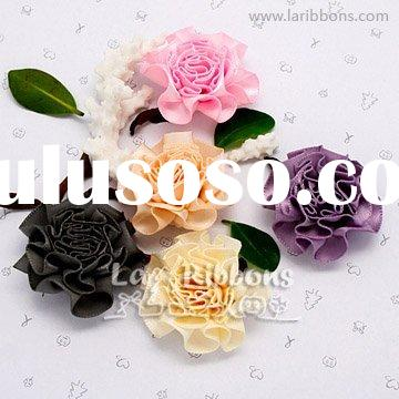 Satin Ribbon Flowers,Ribbon Carnation