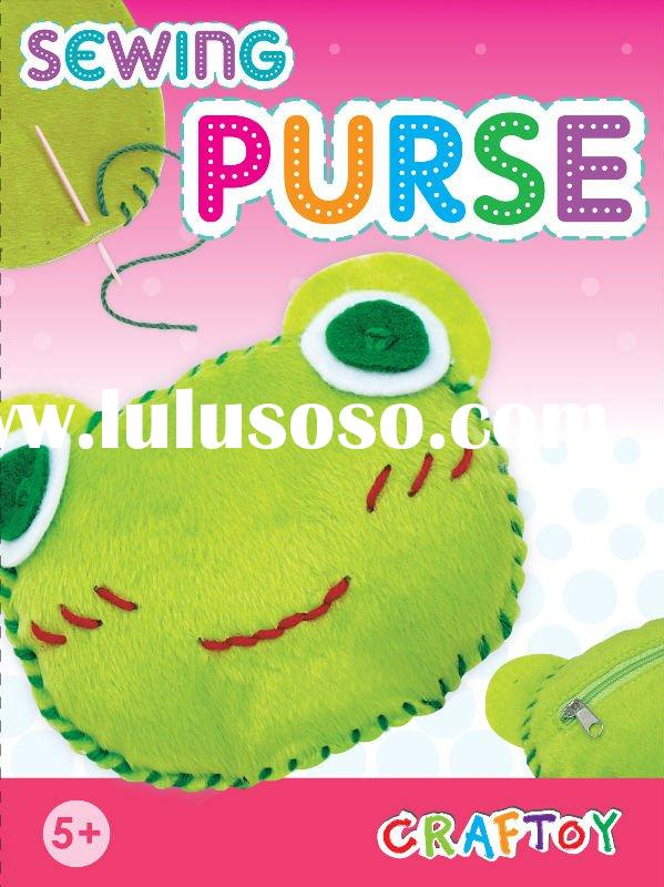 Sewing, DIY toy, craft kit / Sewing animal purse - Frog