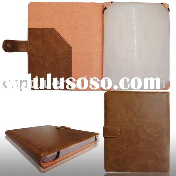 Sewing pattern genuine leather case cover for Amazon kindle 2 ebook