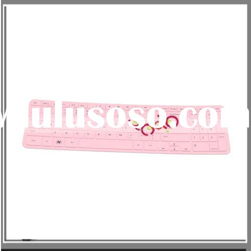 Silicone Laptop Keyboard Protector For Dell Inspiron 1564 15R N5010 Pink