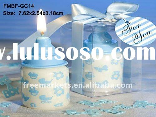 Small Baby Bottle Candle baby favors,Blue Candle baby favors,baby shower candle favors,feeding bottl