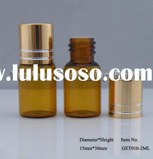 Small Glass Bottle, Mini Glass Bottle, Glass Vial with Lid, Amber Vial, Small Amber Bottle, Mini Ess