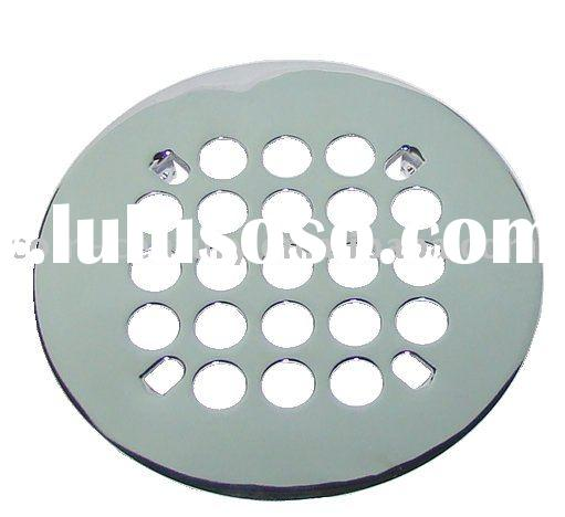 "Snap-in Shower Drain Strainer 4-1/4"" OD, Polished Chrome"