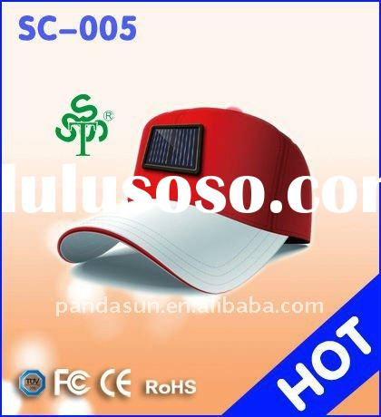 Solar Cap Charger for Cell Phone, MP3, MP4