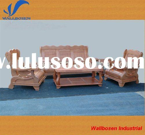 Solid wood sofa and table