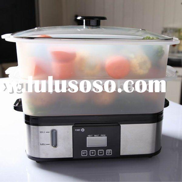 Stainless steel electric food steamer with bpa free XJ-10107