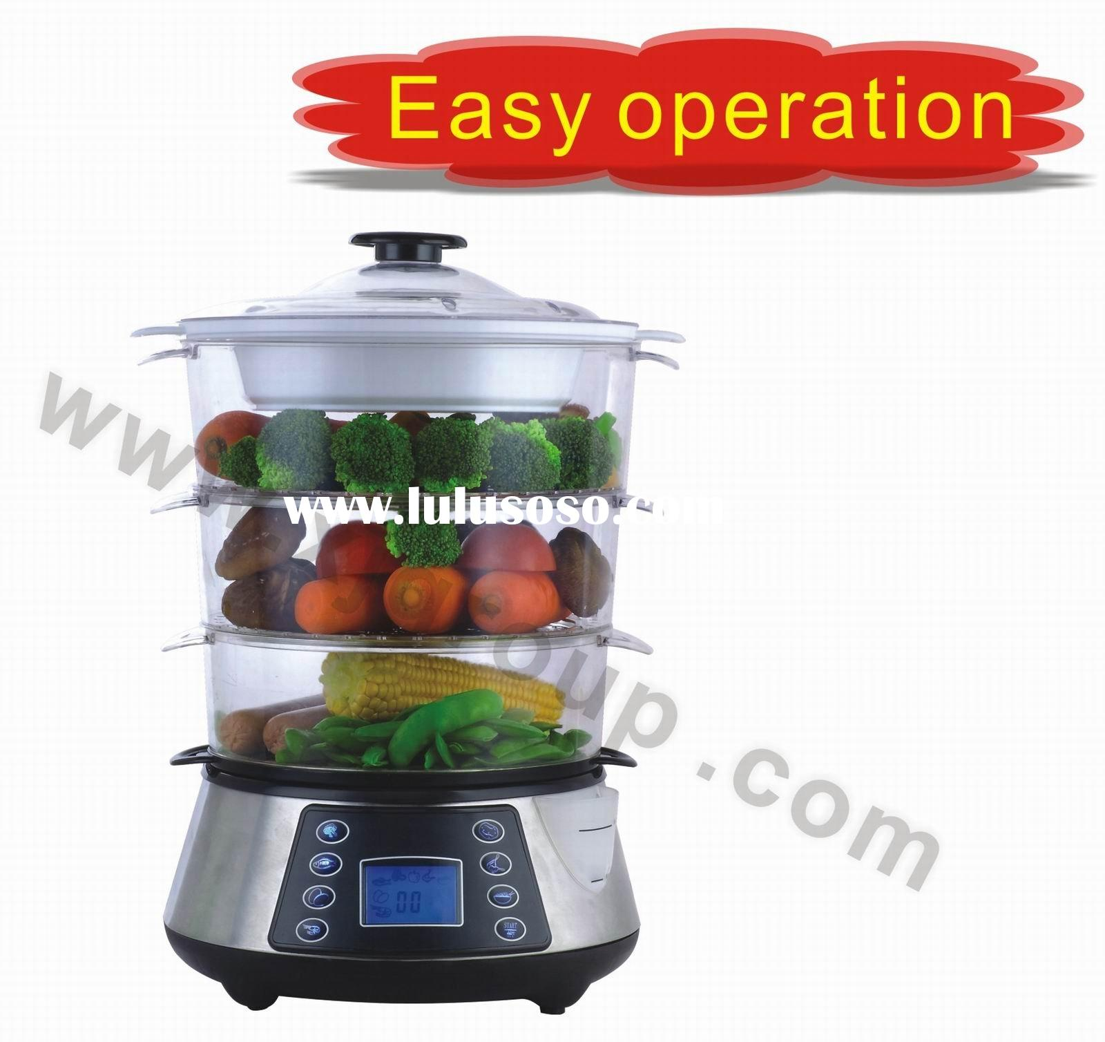 Stainless steel food steamer 3-layer XJ-7K118