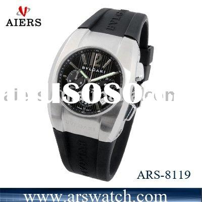 Stainless steel watch, silicone band watch, man watch