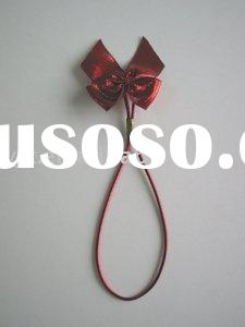 Stretch loop with ribbon bow