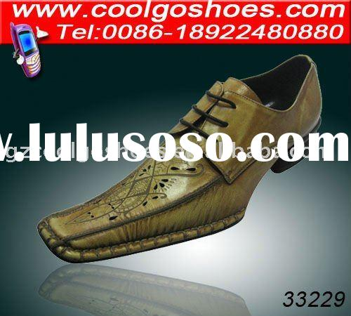 Super Italian style fashion dress men leather shoes made in China