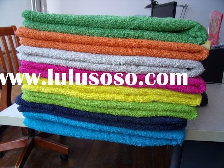 T3103 Cotton Plain Dyed Dobby Border Bath Towel