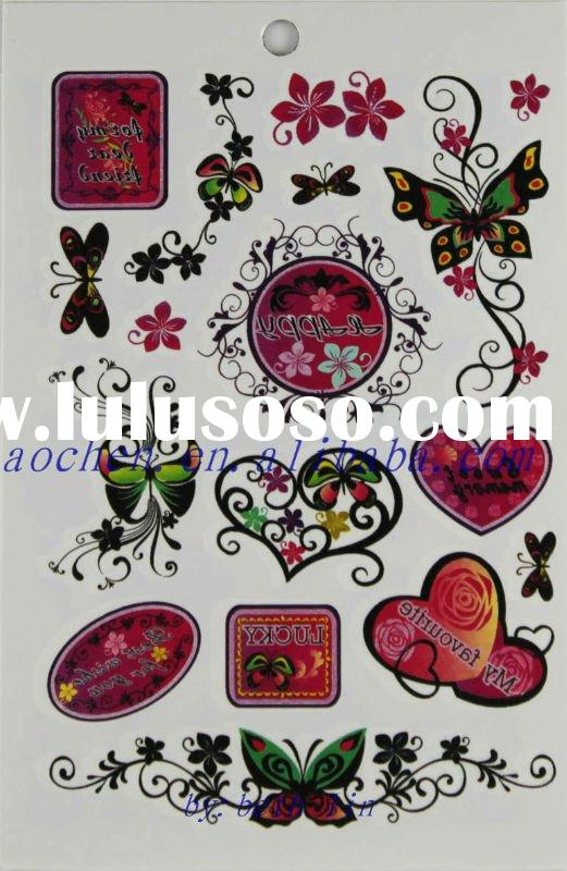 Tattoo sticker album