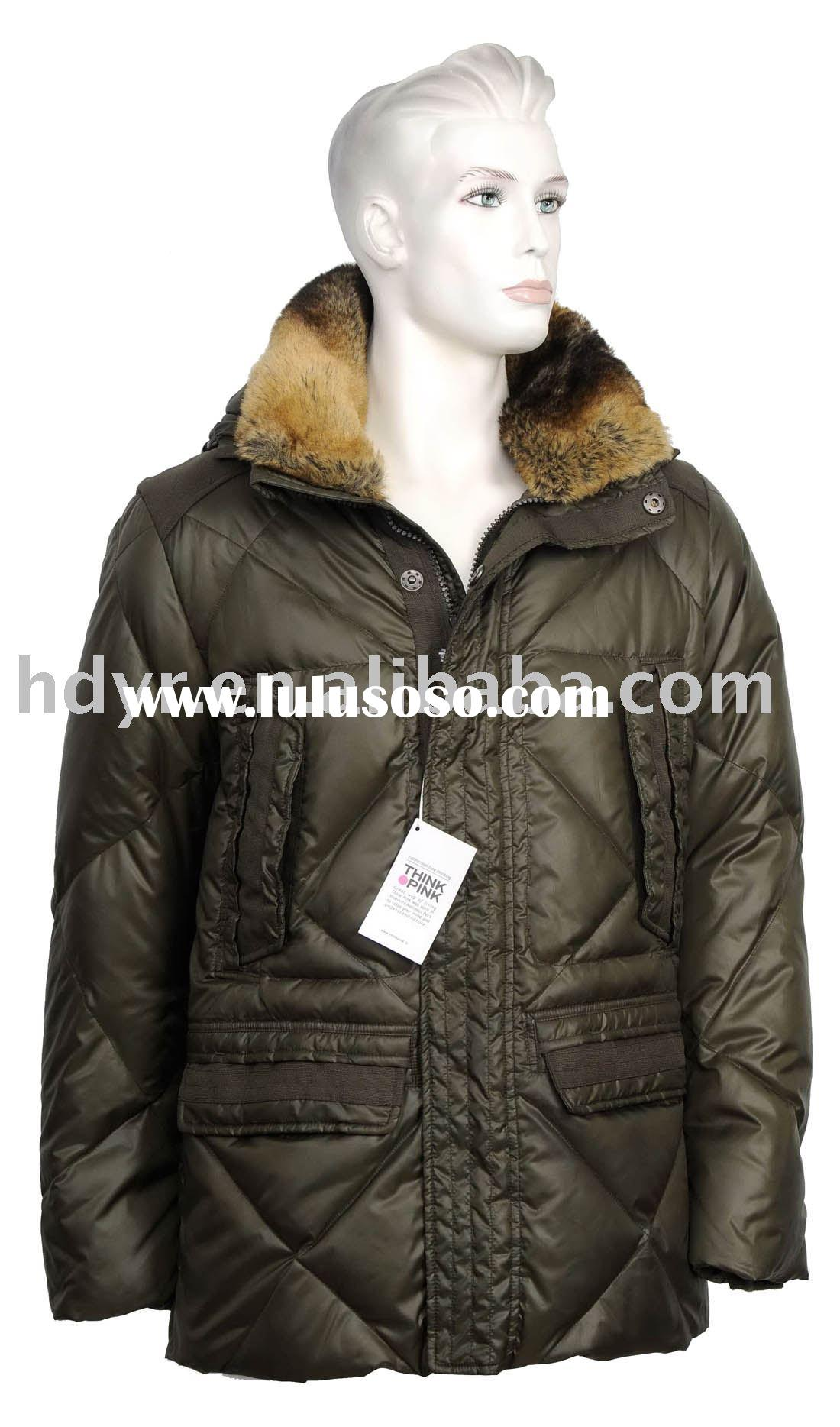 Think Pink Brand Men's Jacket with Fur Collar