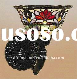 Tiffany glass handmade wall lamps for bedroom decoration