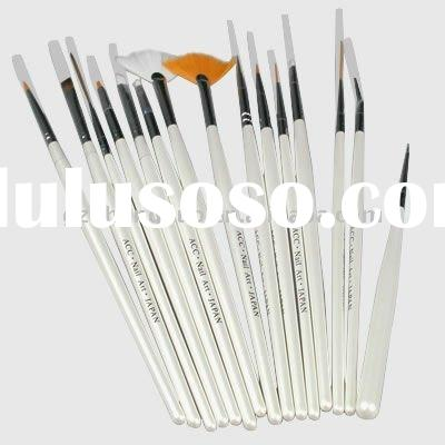 Top 15 pcs Nail Art Gel Painting Pen Polish Brush HN091