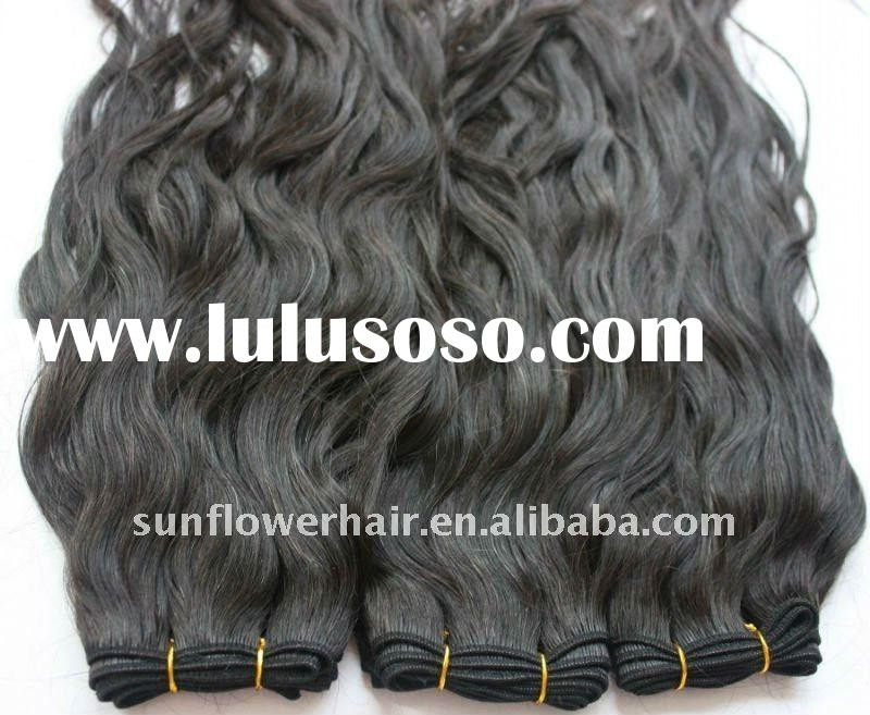 Top Quality natural color curly Malaysian remy human hair weaving accept paypal