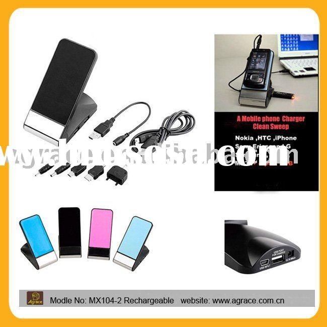 USB Mobile Phone Holder/Card Reader With Mobile Phone Charger