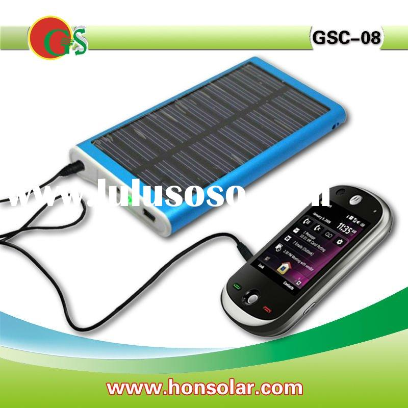 USB solar charger with 2600mah battery