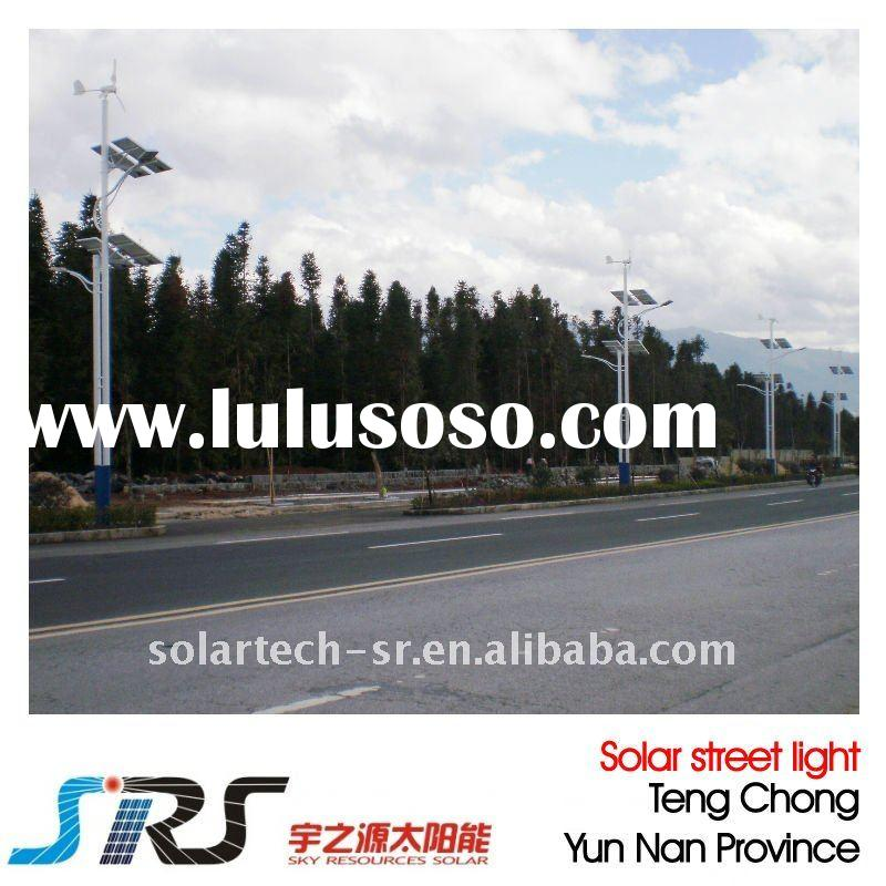 Unique solar led street lamp with invention patents