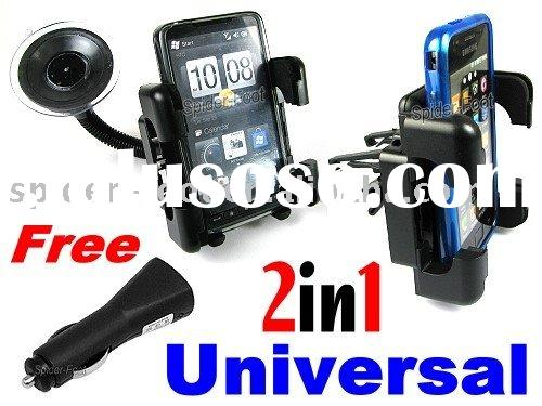Universal Car Mount Holder +USB Car Charger Adapter for Cell Phones PDA GPS