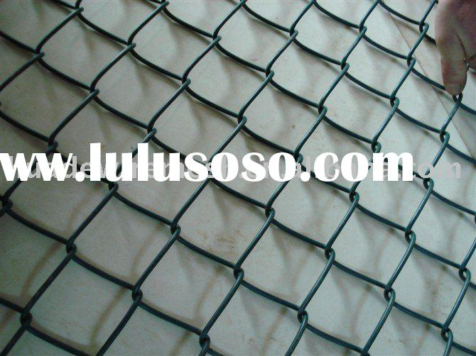 Vinyl-coated Chain Link, chainwire mesh, black pvc chainlink fencing