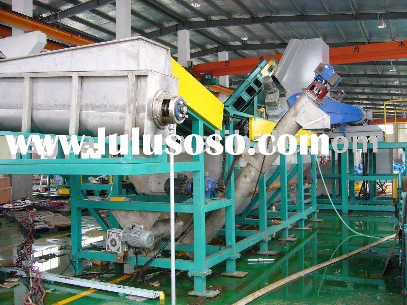 Waste PET bottle recycling production line flakes