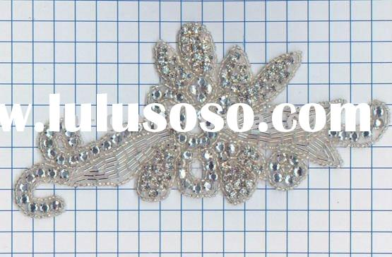 Wedding dress crystal rhinestone appliques