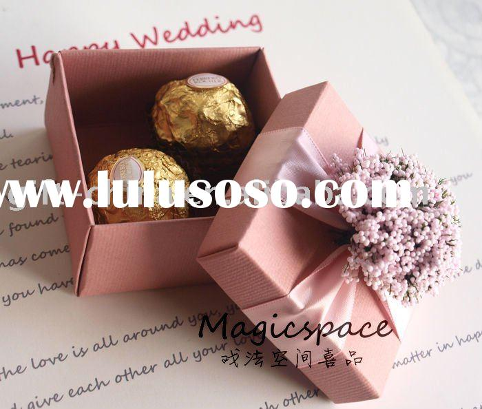 Wedding favor paper gift box for chocolate