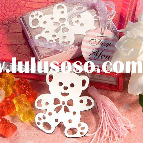 Wedding favors Lovable Teddy Bear Design Bookmarks - Pink