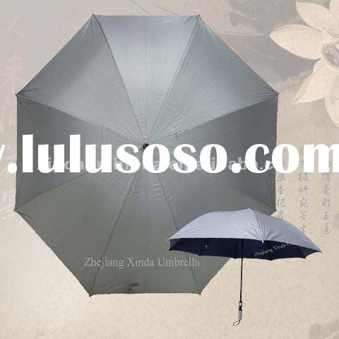 Wholesale Quality Long Sport UV Polyester Solid Color Straight Golf Umbrellas for Sun Protection