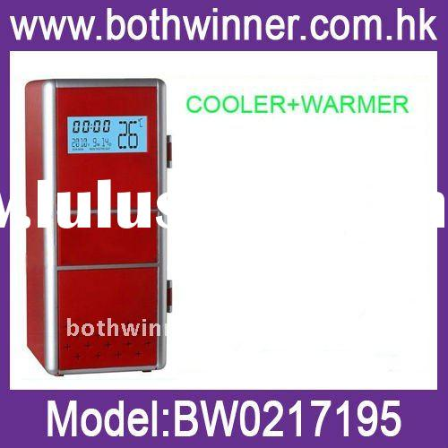 Wholesale USB Cooler and Warmer, USB Gadget ,Mini USB Fridge with LCD Display Function (calendar, ti