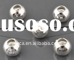 *8mm wholesale 925 sterling silver round tube beads,tube beads