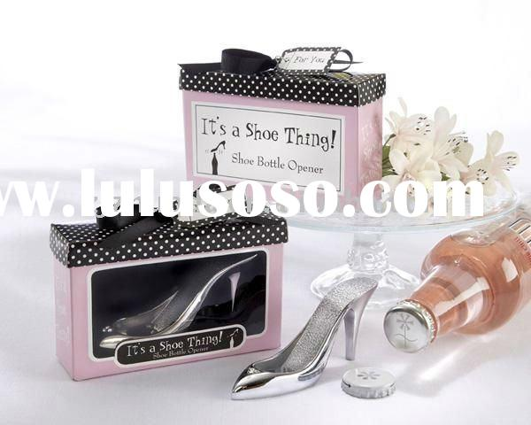 """It's a Shoe Thing!"" Shoe Bottle Opener wedding favors"