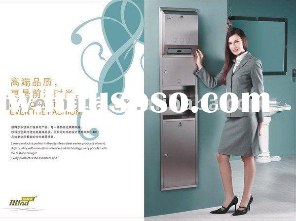 (Stainless steel, hand dryer, paper towel dispenser, dustbin)Multipurpose wall units