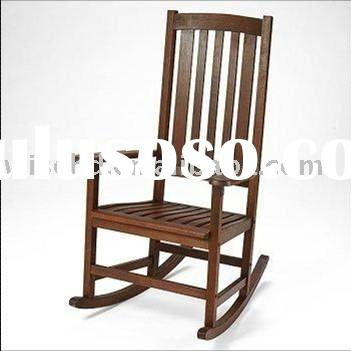(WG-C-1035) Wooden swivel rocker chair