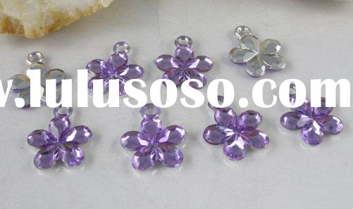 acrylic crystal charm, jewelry beads