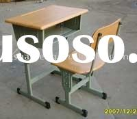 adjustable school desk and chair/school furnituer