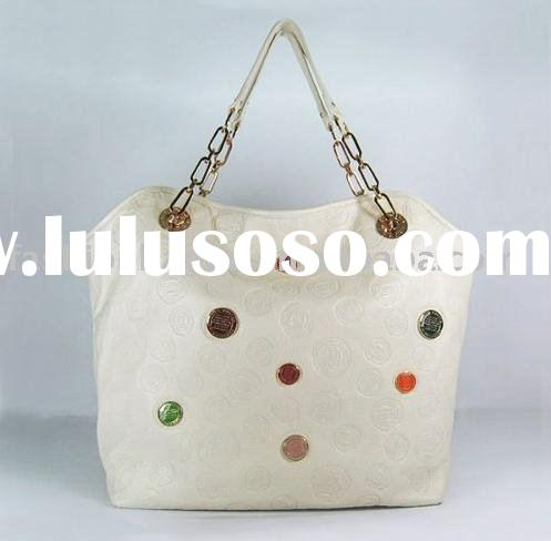 authentic leather brand name handbag white