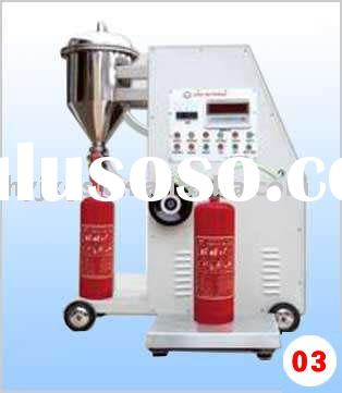 automatic powder fire extinguisher refilling machine/ powder fire extinguisher refilling equipment