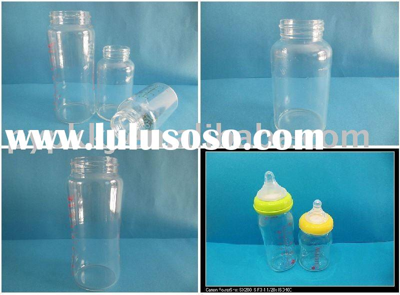 baby glass feeding bottle